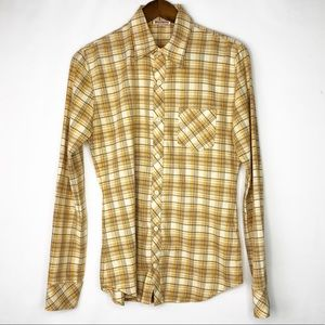 TRUE RELIGION  Plaid Long Sleeve Shirt - M